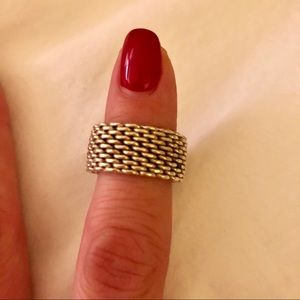 💯 Authentic Tiffany and Co. Somerset Mesh Ring 5